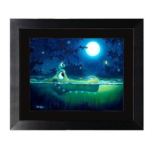 Moonlight Friends by Rob Kaz (framed fine art paper)