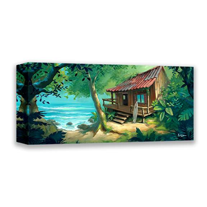 Seaside Surf Shack by Rob Kaz (wrapped canvas collectible)