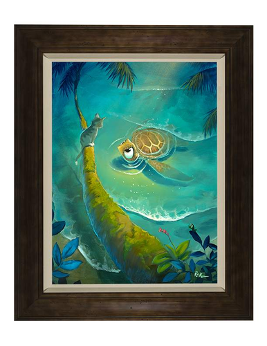 Unlikely Pair by Rob Kaz (framed canvas giclee)