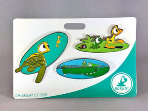 Friends Along The Way Pin Set by Rob Kaz