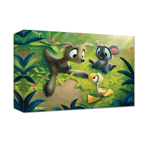 Meeting Down Under by Rob Kaz (wrapped canvas collectible)