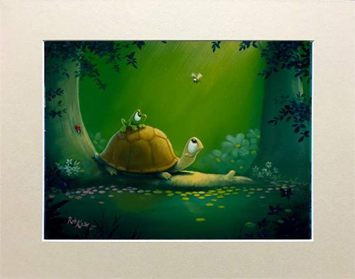 Piggy Bee by Rob Kaz (matted print)