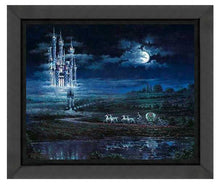 Load image into Gallery viewer, Moonlit Castle by Rodel Gonzalez (fine art poster)