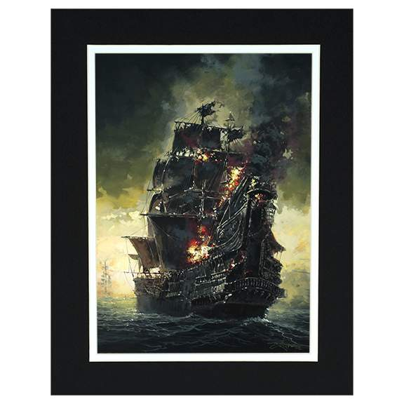 A Pirate's Journey by Rodel Gonzalez (matted print)