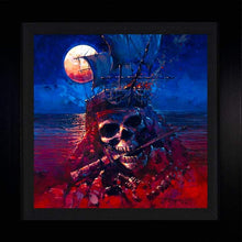 Load image into Gallery viewer, A Pirates Life by Rodel Gonzalez (framed metal print)