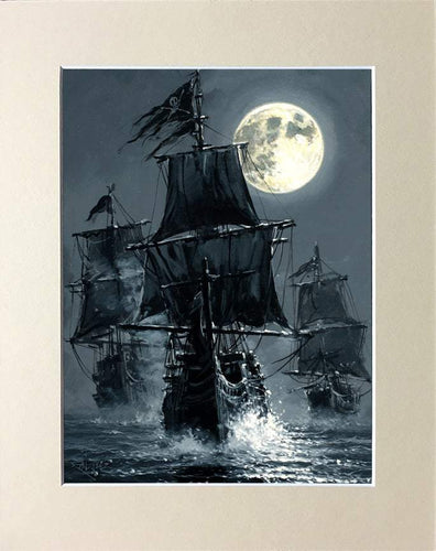Black Sails by Rodel Gonzalez (matted print)