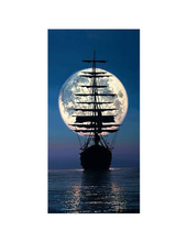 Load image into Gallery viewer, Sailing To The Moon by Rodel Gonzalez (framed canvas giclee)