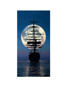 Sailing To The Moon by Rodel Gonzalez (framed canvas giclee)