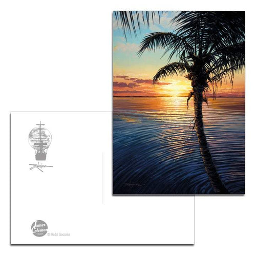 Sunset Ripple by Rodel Gonzalez (postcard)