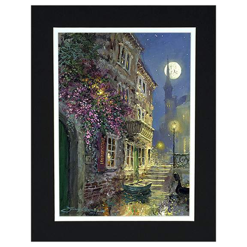 Nighttime On The Canal by James Coleman (matted print)