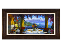 Load image into Gallery viewer, Terrace of Love by James Coleman (framed canvas giclee)