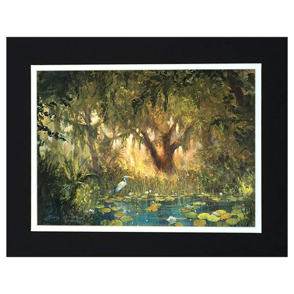 Afternoon Solitude by James Coleman (matted print)