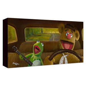 Kermit and Fozzie ''Movin' Right Along'' by Rob Kaz, Giclée on Canvas, Disney Treasure, Muppets