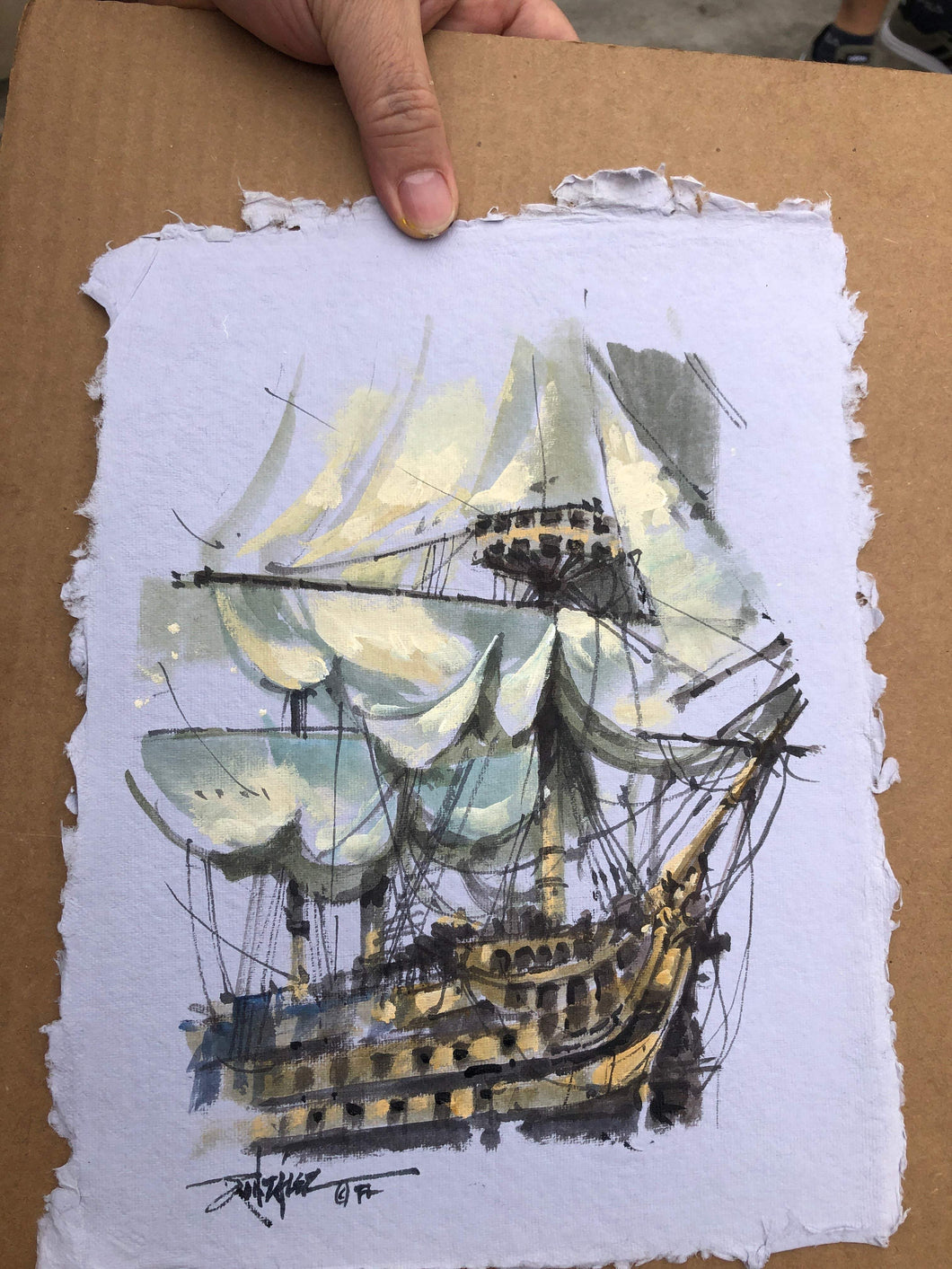 Original study by Rodel Gonzalez (Pirate Ship White)