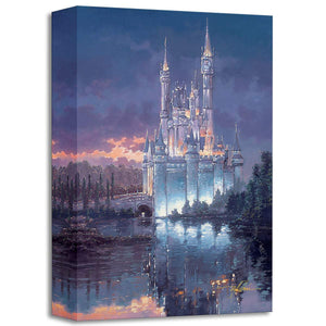 Cinderella ''Royal Reflection'' by Rodel Gonzalez, Giclée on Canvas, Disney Treasure