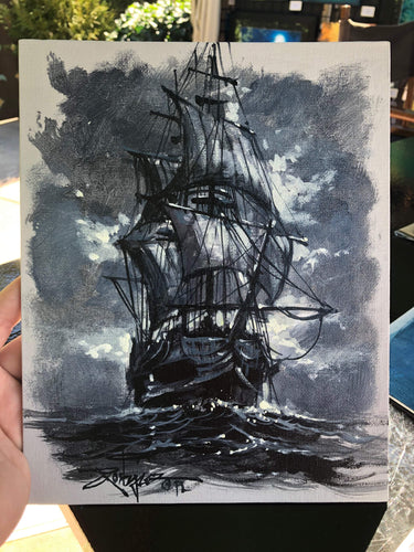 Original study by Rodel Gonzalez (Pirate Ship BW2)