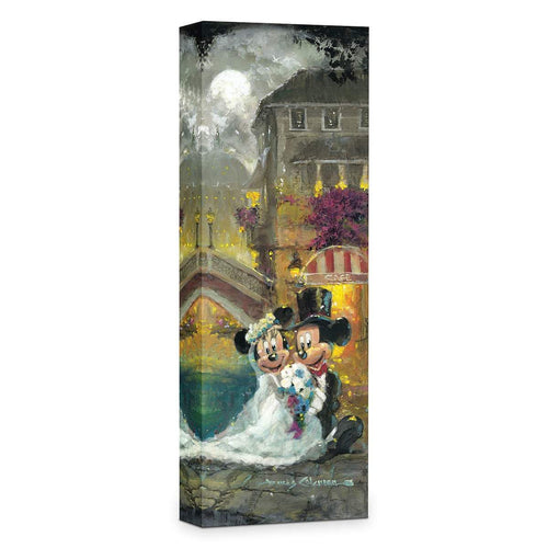 Mickey Mouse & Minnie Wedding ''Happy Together'' by James Coleman, Giclée on Canvas, Disney Treasure