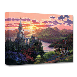 Beauty and the Beast ''The Beauty in Beast's Kingdom'' by Rodel Gonzalez, Giclée on Canvas, Disney Treasure