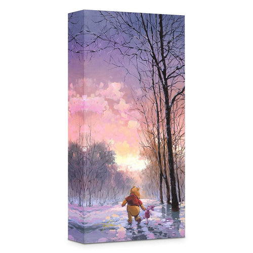 Winnie The Pooh ''Snowy Path'' by Rodel Gonzalez, Giclée on Canvas, Disney Treasure