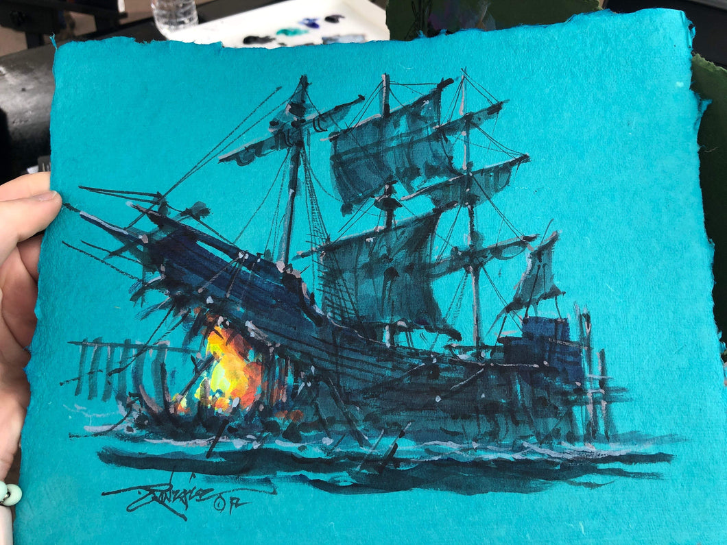 Original study by Rodel Gonzalez (Pirate Ship Blue)