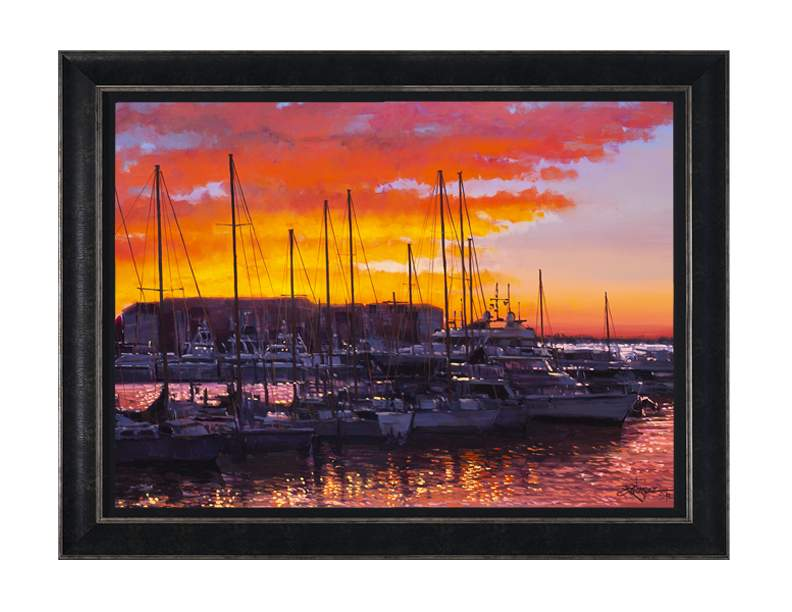 Sunset In The Keys by Rodel Gonzalez (framed LE canvas giclee)