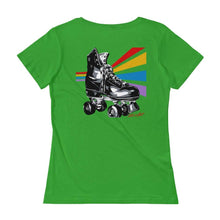 Load image into Gallery viewer, Retro Rollers Lady Tee by Allison Lefcort