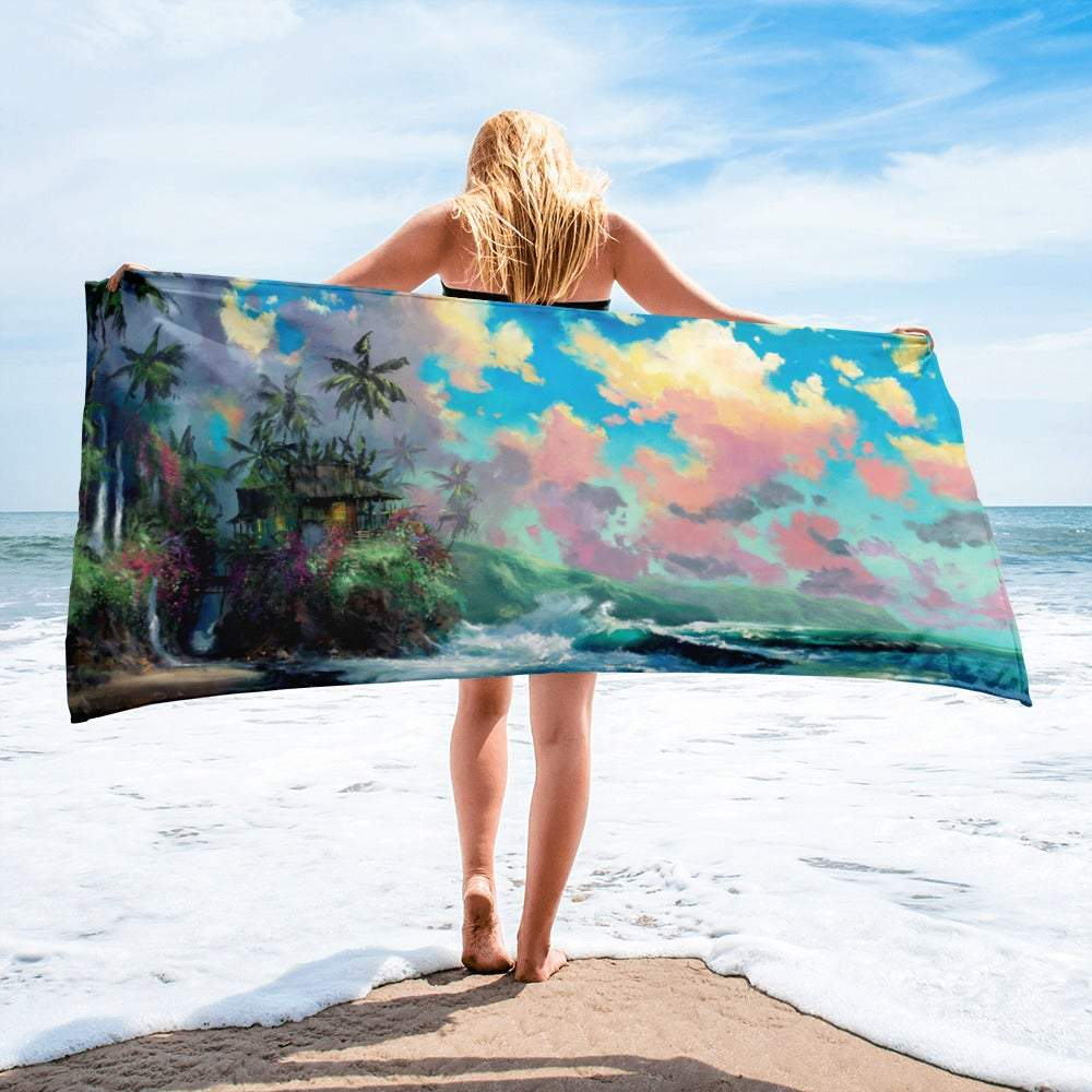Island Memories beach towel by James Coleman
