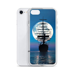 iPhone Case featuring Sailing to the Moon by Rodel Gonzalez