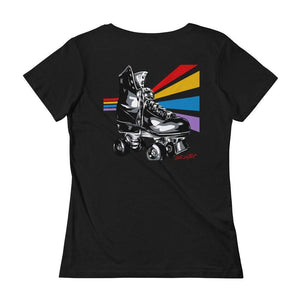 Retro Rollers Lady Tee by Allison Lefcort