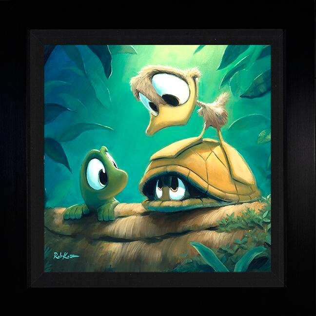Shy Guy by Rob Kaz (framed metal print)