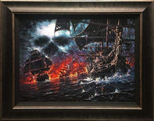 Load image into Gallery viewer, Battle Of Thieves by Rodel Gonzalez (framed LE canvas giclee)