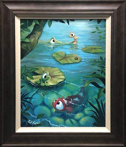 Day In The Pond by Rob Kaz (framed canvas giclee)