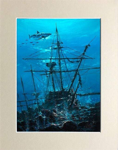 Sunken Treasure by Rodel Gonzalez (matted print)