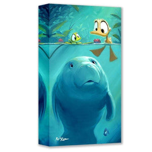 Curious Sea Cow by Rob Kaz (wrapped canvas collectible)