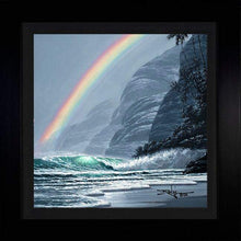 Load image into Gallery viewer, Rainbow's End by Rodel Gonzalez (framed metal print)