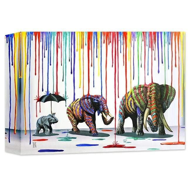 Elephant Parade by Michael Summers (wrapped canvas collectible)