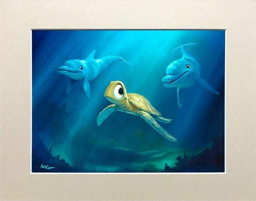 Undersea Play by Rob Kaz (matted print)