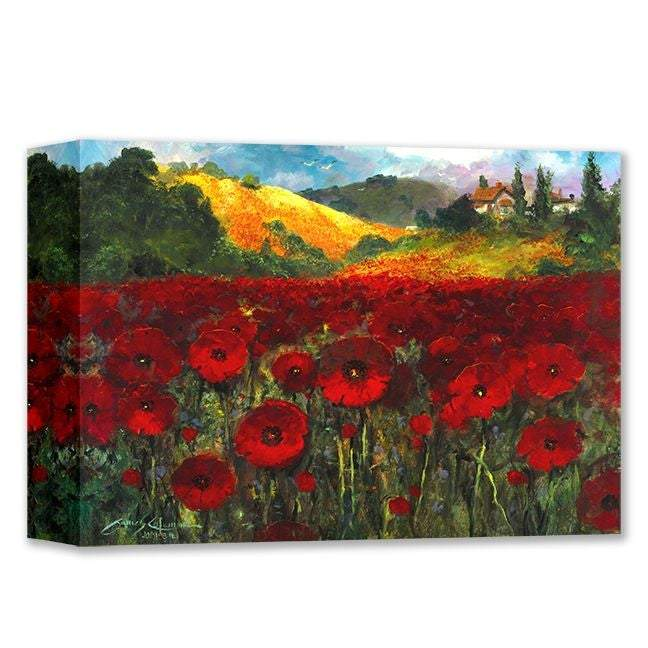 Bloomin Poppies by James Coleman (wrapped canvas collectible)