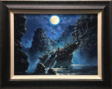 Load image into Gallery viewer, Shipwrecked by Rodel Gonzalez (framed LE canvas giclee)