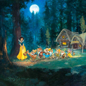 Snow White & The Seven Dwarfs by James Coleman (Disney metal print)