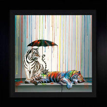 Load image into Gallery viewer, Catnap by Michael Summers (framed metal print)