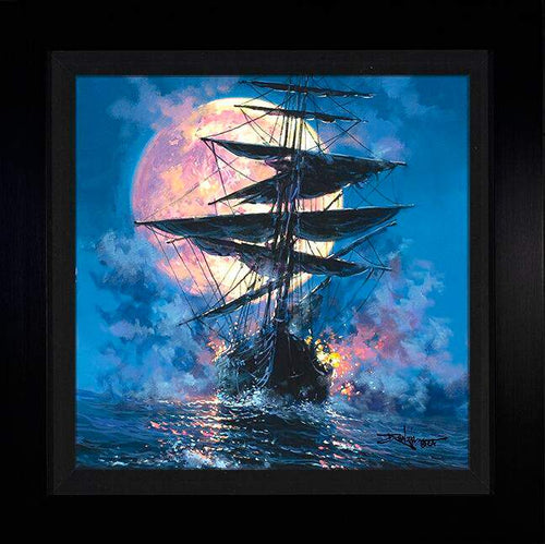 Full Moon Battle by Rodel Gonzalez (framed metal print)