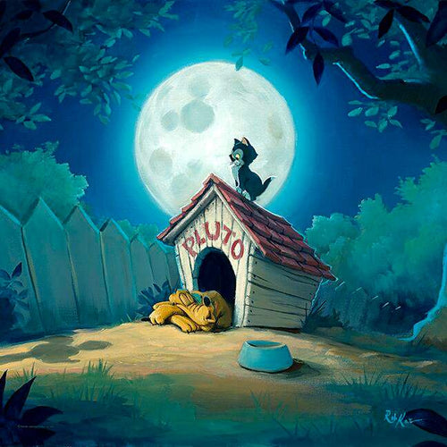 A Night At Pluto's House by Rob Kaz (Disney metal print)