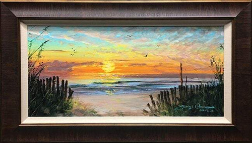 Sunset Memories by James Coleman (framed canvas giclee)