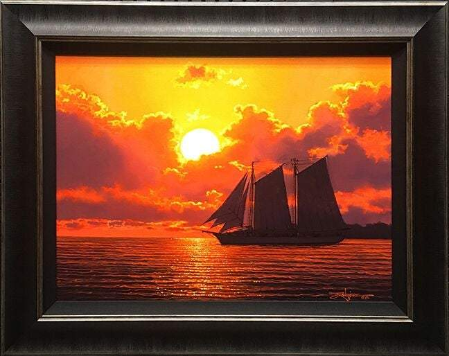 Southern Sunset by Rodel Gonzalez (framed canvas giclee)