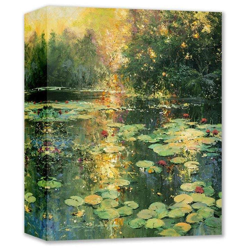Sunset Lily Pond by James Coleman (wrapped canvas collectible)