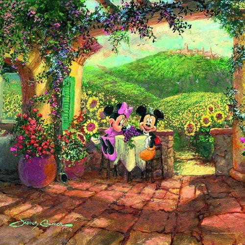 Tuscan Love by James Coleman (Disney metal print)