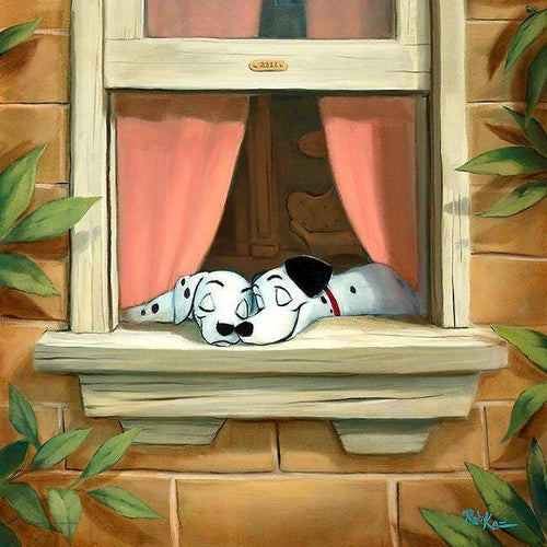 Puppy Love by Rob Kaz (Disney metal print)