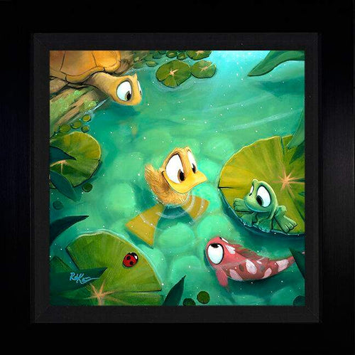 Gathering Pond by Rob Kaz (framed metal print)