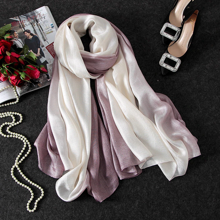 foulard mousseline taupe